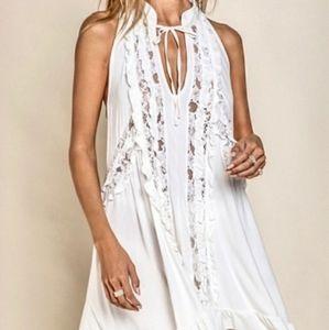 🆕️ LAST 1! Ivory Bohemian Lace Tunic